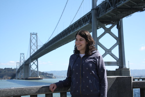 Janine with the Bay Bridge in the background.