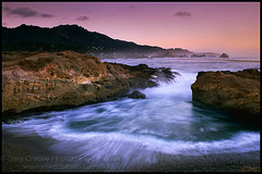 Evening wave at Point Lobos, Monterey Coast, California (enlightphoto) Tags: ocean california pink blue sea sky beach nature water horizontal landscape outside evening coast monterey sand scenery rocks surf view purple natural cove small shoreline scenic rocky reserve wave scene fresh coastal shore carmel vista opening coastline pointlobos rugged outoors colorphotoaward superaplus aplusphoto flickraward frhwofavs garycrabbe enlightenedimages enlightphotocom platinumheartaward nikonflickraward