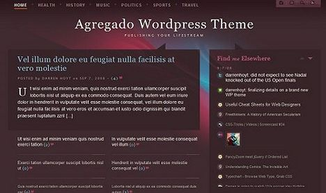 Agregado Lifestream Free Wordpress Theme