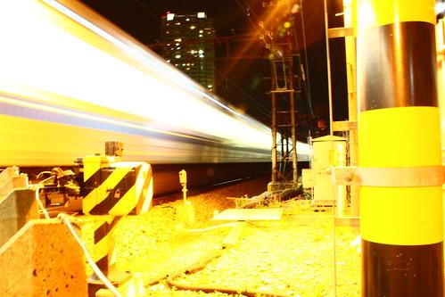 西武有楽町線 銀色電車 踏切