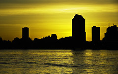 golden morning (Tattooed JJ) Tags: nyc ny silhouette sunrise golden pentax manhattan april jjp