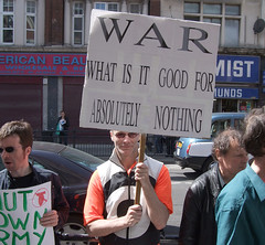 2nd May 2009 (ruSSeLL hiGGs) Tags: love publicspace army community war peace protest local hackney neighbours placard dissent dalston recruitment russellhiggs channelzero kinglandroad kingslandshoppingcentre armyshowroom