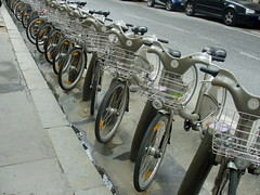 Vélib bikes in Paris, widely succesful