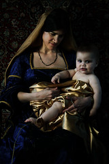 madonna & child (Amy Ballinger) Tags: woman baby texture child madonna renaissance canon40d carvaggioinspired