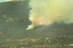 View of Jesusita Fire from Loma Alta