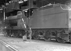 Class 4F 43940. Swindon Shed. 20 September 1964 (ricsrailpics) Tags: uk bw steam 1964 060 exlms class4f swindonshed
