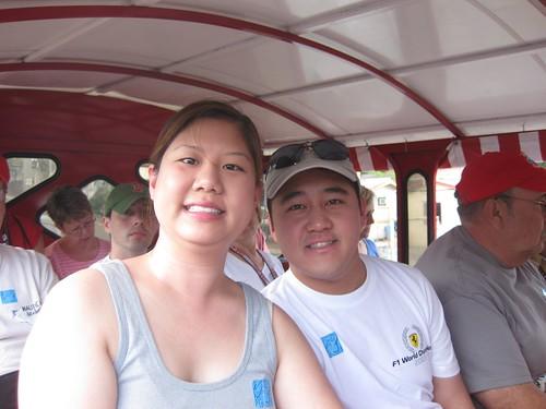 Inside the safari taxi bus