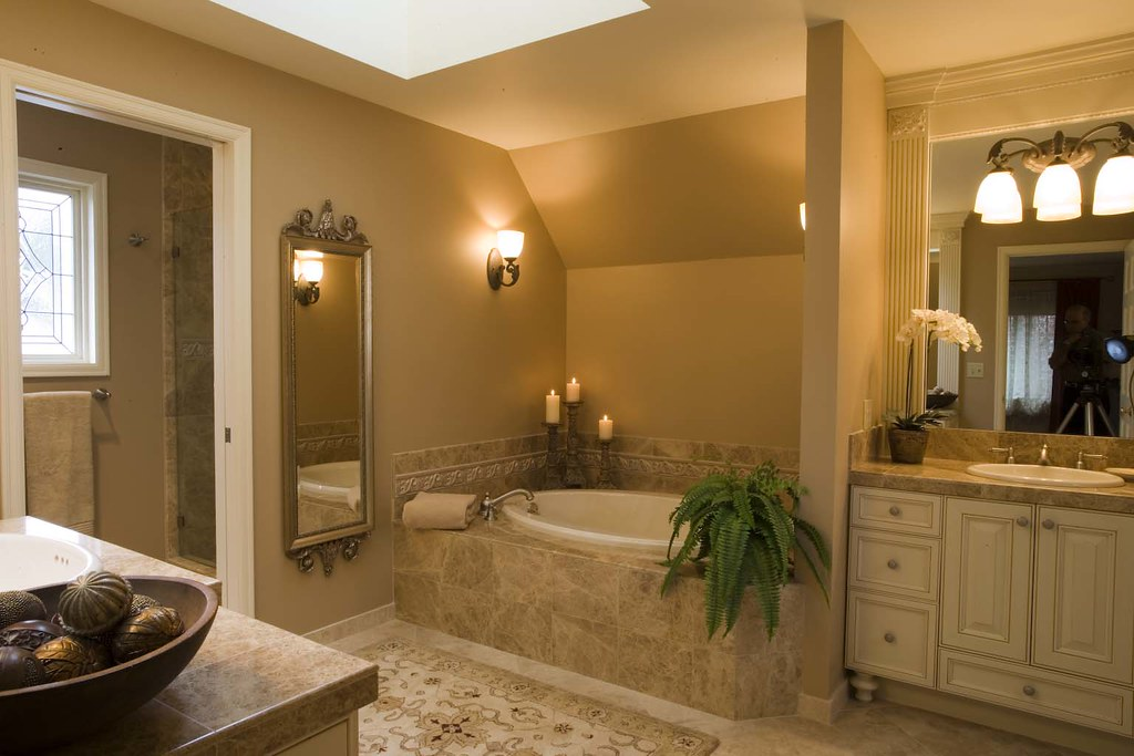 Master bathroom, completed 2007