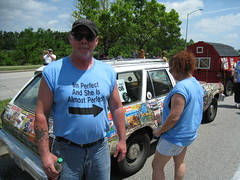 Nice shirt (cee emily) Tags: houston artcar artcarparade houstonartcarparade2009