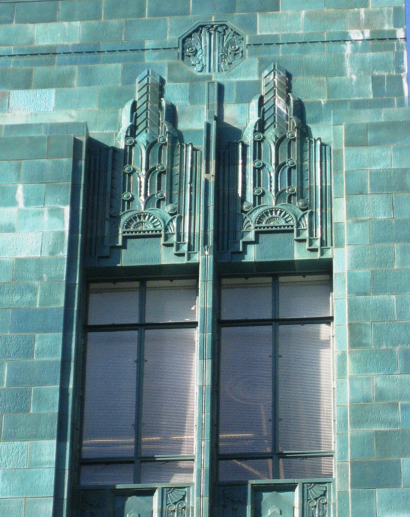 art deco tile detail, I. Magnin & Co. Building, Oakland, CA