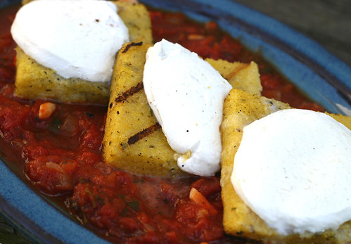 Grilled Polenta with Easy Tomato Sauce |