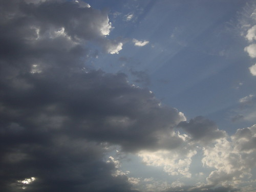 The sky from the parking lot at First Pres, Bakersfield, May 18 at 6:36 pm