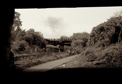 This old train pt2 (beqi) Tags: train railway steam 2009 photoshoppery dalmeny gresley unionofsouthafrica classa4