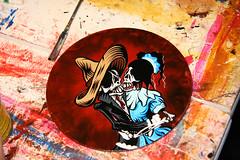 Los Novios -- Progress Shot 9 (David Lozeau) Tags: art painting dayofthedead diadelosmuertos lowbrow mexicanfolkart progresspictures davidlozeau