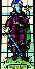 St Gwynllyw window, Caerphilly (robin.croft) Tags: church saint wales stainedglass newport anglican caerphilly gwladys woolos gwynllyw catwg