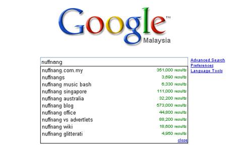 Nuffnang on Google