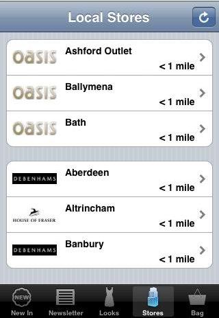 Oasis app store locator