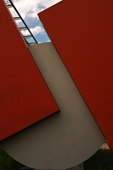 Red-and-grey (Diane Rabin) Tags: redsculpture