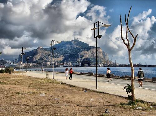 Palermo, il Foro Italico por Angelo Trapani.