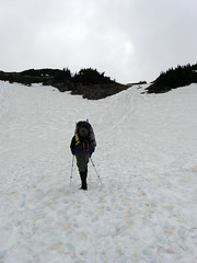 Climbing the Muir Snowfield
