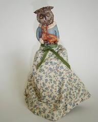 Owl and Baby Fox Front 1 (gumballgrenade) Tags: sculpture ooak fox owl whimsical prim primitivedoll folkartdoll