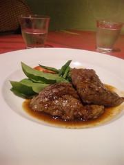 箱根宮ノ下 ラバッツァ 牛ハラミ肉のステーキ