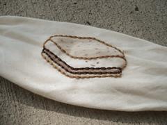 Stitched (wildolive) Tags: embroidery bracelet stitching bandana smore stepbystep muslin crayontinting