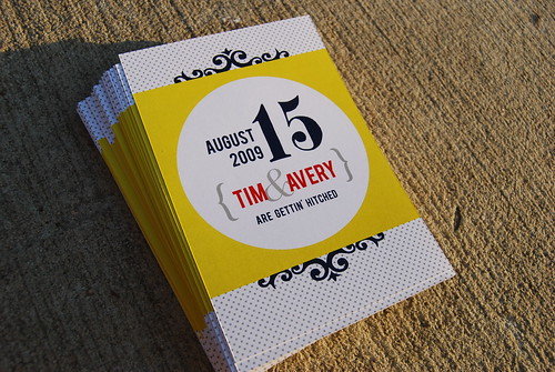 Tim + Avery RSVP postcards