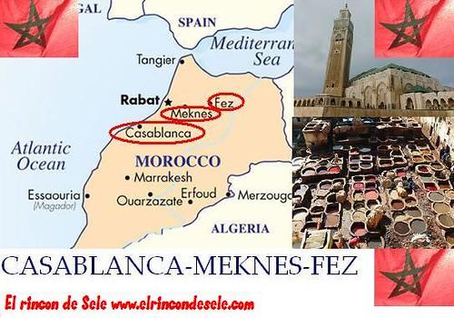 Mapa recorrido Marruecos 2 por ti.