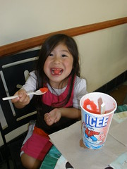 An Icee treat @ the zoo