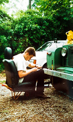 Me and my 1962 Land Rover SIIa SWB (Laura) (Peter Bromley) Tags: laura film me analog 35mm rover land 88 1962 bromley swb sii siia