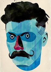 bigotes (alvaro tapia hidalgo) Tags: illustration head bigotes moustache