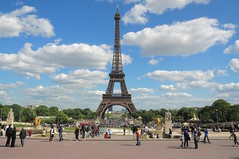 Tour Eiffel, Paris (faungg's photos) Tags: street city travel vacation sky paris france clouds nikon scenery view sightseeing eiffeltower sunny scene tourists latoureiffel  trocadero 18200 attraction   getaways   d90  famouslandmarks theironlady faungg