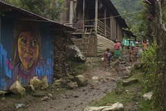 M Kauckaque (Mi hija) (somos2013) Tags: street naturaleza streetart art graffiti mural colombia arte paisaje indios embera choco mal indio somos tierra indigena sdn territorio katio andagueda