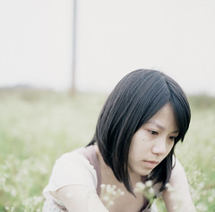 (HaoJan) Tags: portrait girl pretty sad crying hasselblad fujifilm 28 planar lowcontrast 80mm 400x