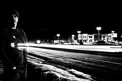 Most Of The Time - 46/365 B&W Light Trails (Jer Kunz) Tags: bw lights utah lighttrails photochallenge kamas photochallengeorg reflectyourworld 200