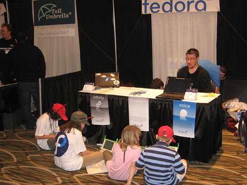 The four Fedora Mascots and jds2001.
