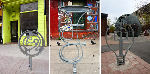 Parkdale bike rack sculptures