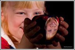 Snow White (31/365) (Obsessive Compulsive Photographer) Tags: portrait reflection cute apple girl emily 365 snowwhite strobist nikond40