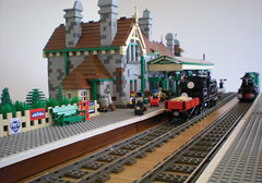 DSCN0832 (bricktrix) Tags: station train lego freight flyingscotsman corfecastle legotrain 044 legostation legoflyingscotsman