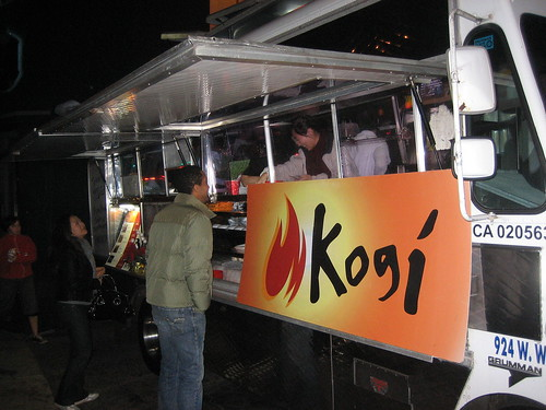Kogi BBQ truck outside of The Brig
