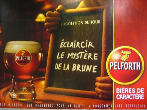 ÉCLAIRCIR LE MYSTÈRE DE LA BRUNE : Pelforth, Bières de caractère