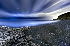 Moonlight Bay (dan barron photography - landscape work) Tags: longexposure seascape beach night photography fullmoon moonlight blast dawdon seaham sigma1020mm nikond90