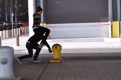 Flying Skateboard (chuckyeager) Tags: nyc people newyork nikon manhattan skateboard gothamist bigapple seaport d90
