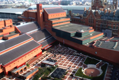 British Library fake tilt-shift