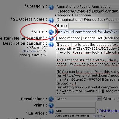 Xstreet SL - SLURL option 1