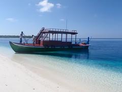 our Dhoni (ClauDeena www.maldivealternative.com) Tags: blue light sea sun tree beach nature water boat sand paradise palm maldives dhoni vaavu felidhoo hulidhoo
