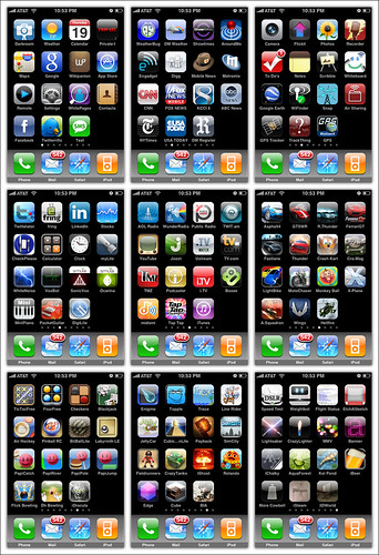 My current Apple iPhone 3G Apps