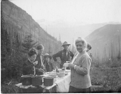 Charles Doolittle Walcott (1850-1927) family campsite in the Canadian Rockies, 1910, by Charles Walc