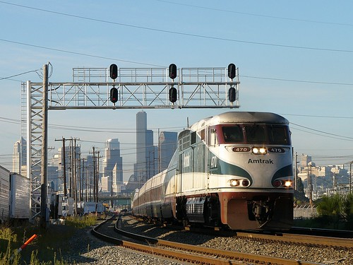 Amtrak leaving Seattle by Brian Bundridge